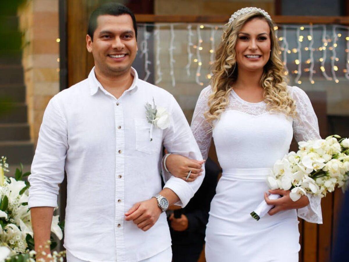 Hasil gambar untuk Andressa Urach dinikahi Thiago Lopes