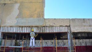 Entre contrariedades discursivas, Santa Cruz explica obras na fachada do Arruda