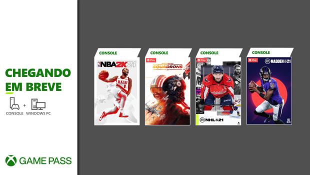 NBA 2K21 e Star Wars: Squadrons estão entre as novidades do Xbox Game Pass de março