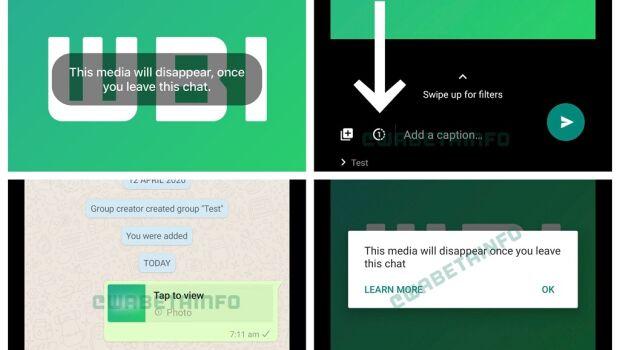 WhatsApp trabalha em recurso para fotos que se autodestruirão