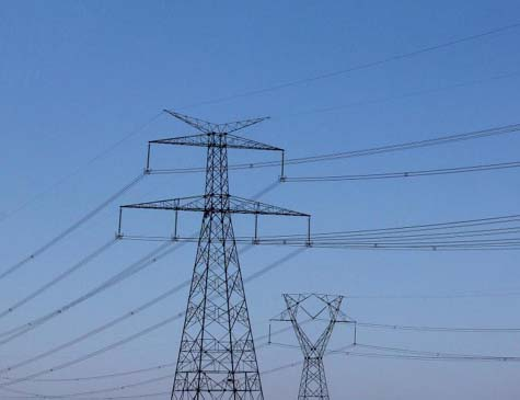 Postes de energia elétrica