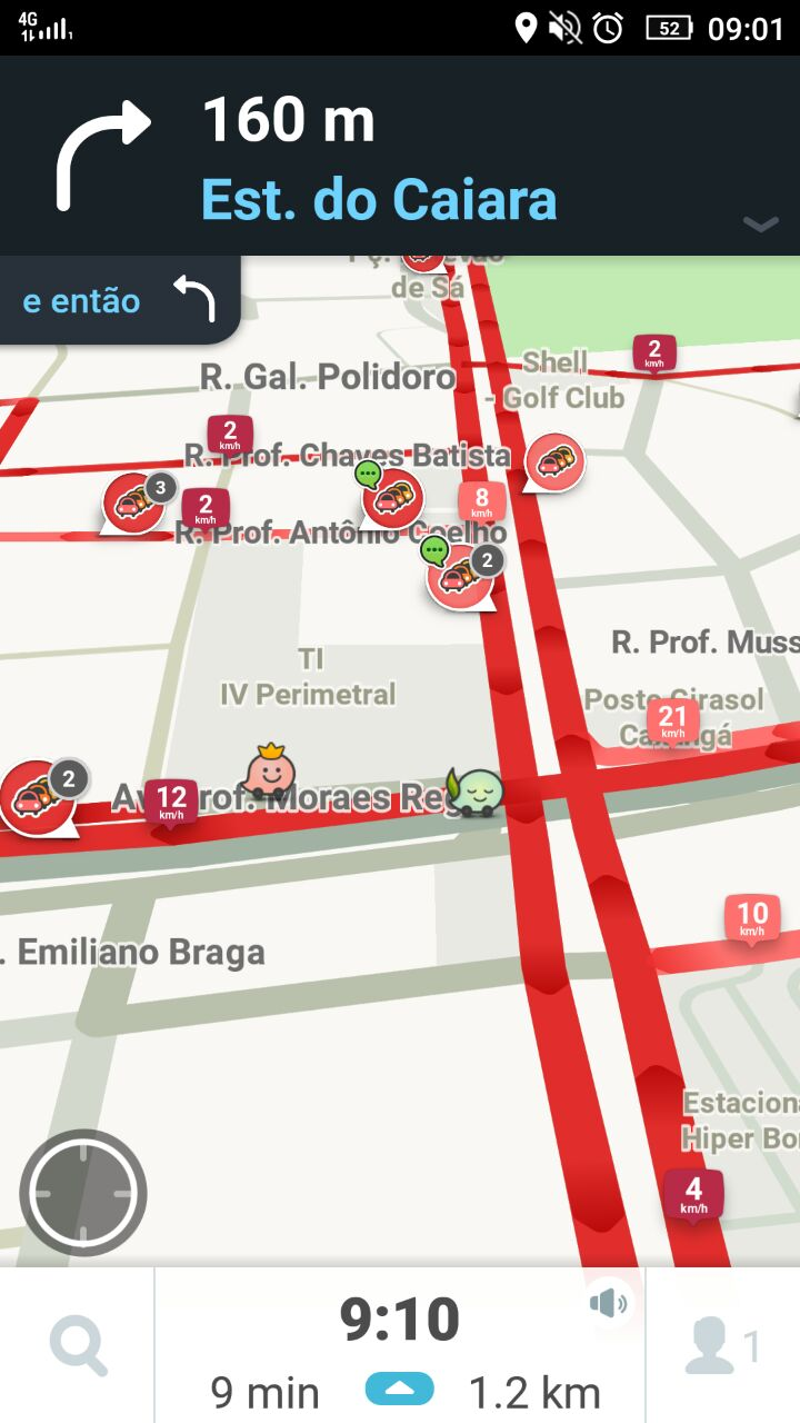Aplicativos mostram congestionamentos