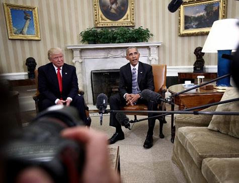 Encontro entre Barack Obama e Donald Trump