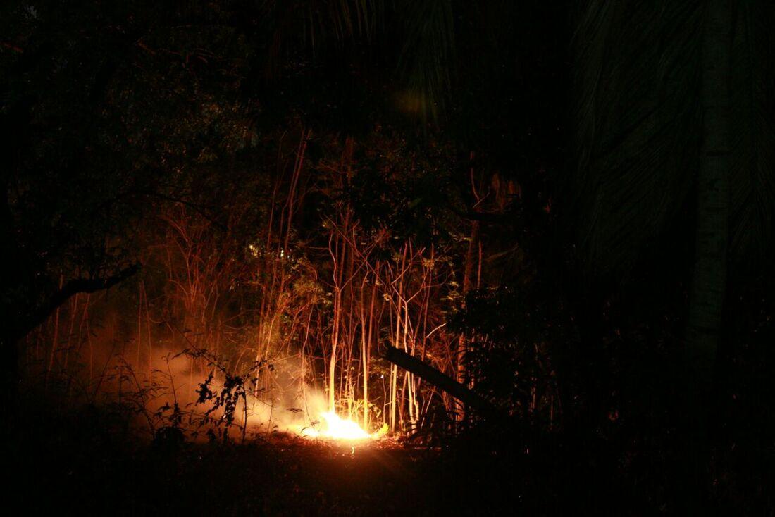 Incêndio no sítio do Convento de São Francisco