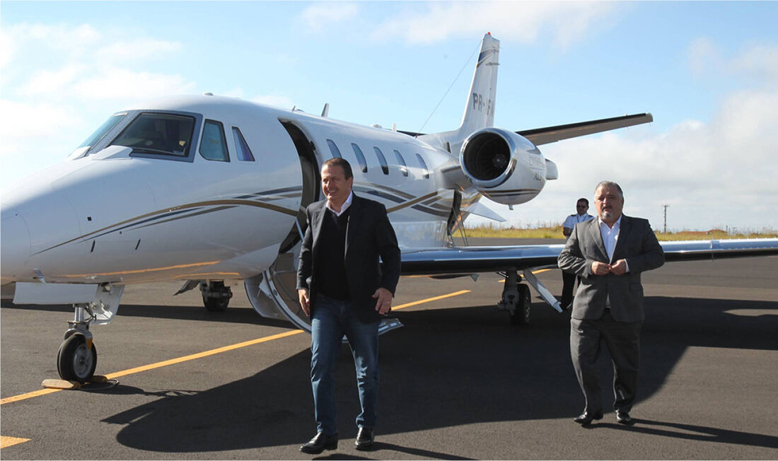 Avião Cessna envolvido no acidente fatal do ex-governador e então candidato à Presidência Eduardo Campos