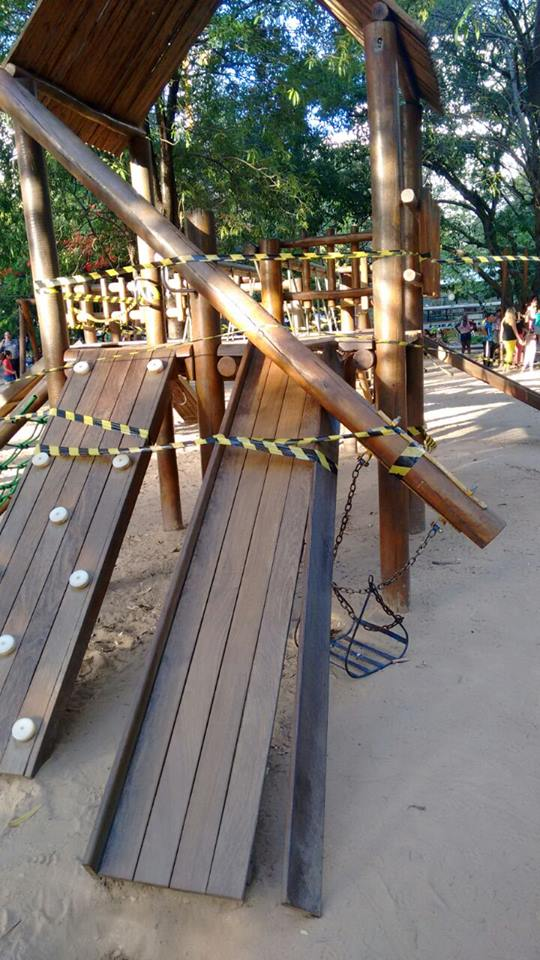 Brinquedo interditado na Jaqueira