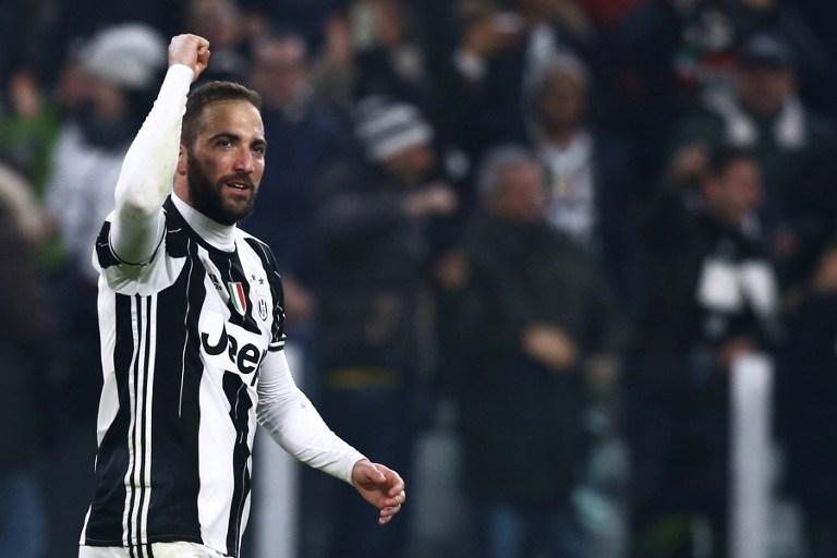 Higuain em ação pela Juventus