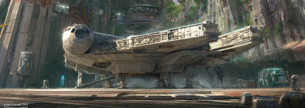 Um dos brinquedos do parque Star Wars que será montado em Orlando e fica pronto em 2019