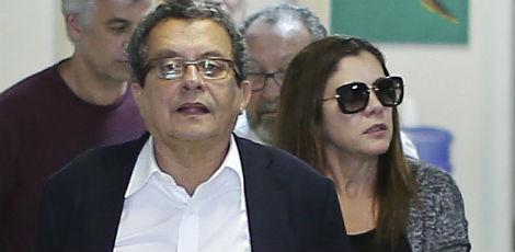 João Santana e a mulher
