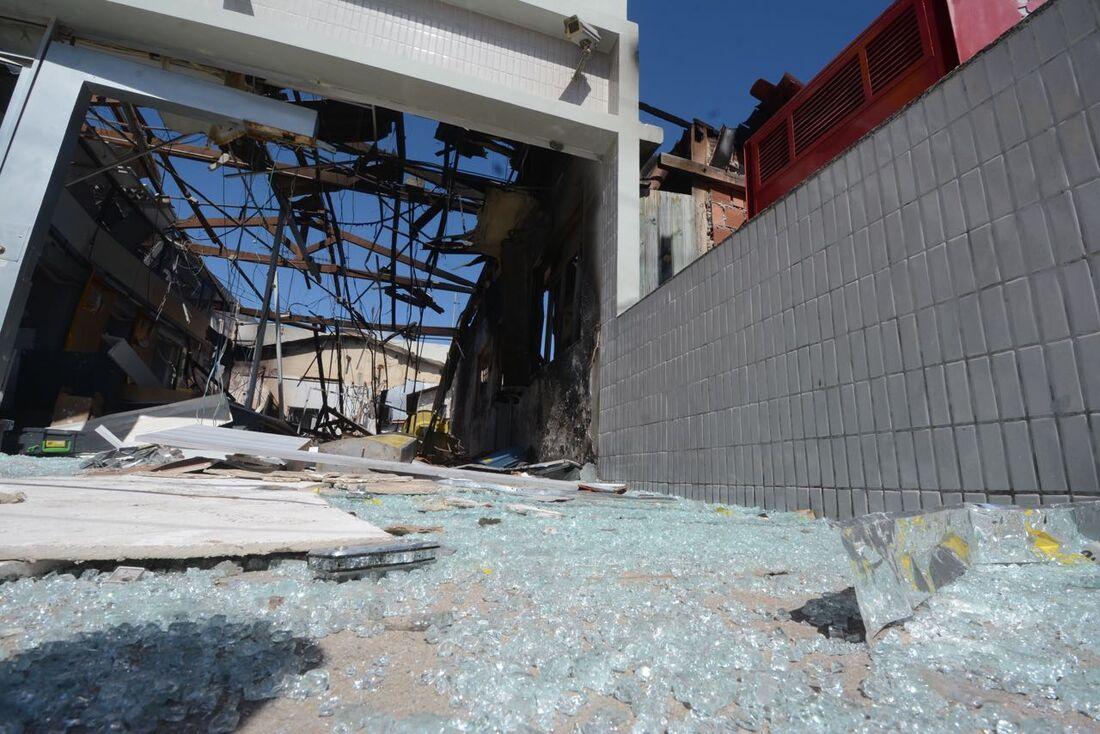 Banco do Brasil de Porto de Galinhas ficou destruído