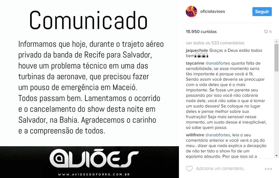 Anúncio foi feito no Instagram da banda