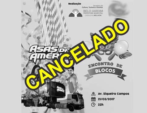Prefeitura de Belo Jardim cancelou evento de Carnaval da cidade