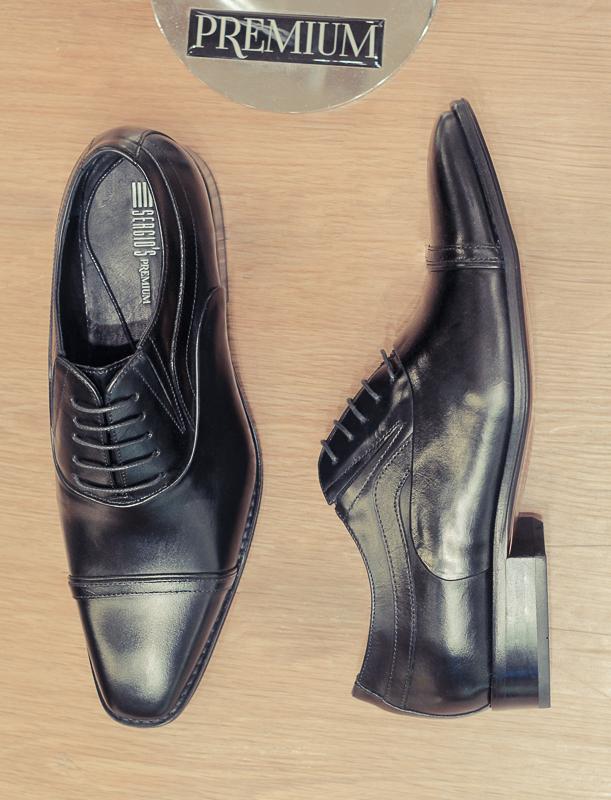 O sapato social premium da Sergio's é opção para aqueles que não abrem mão da elegância, tampouco do conforto