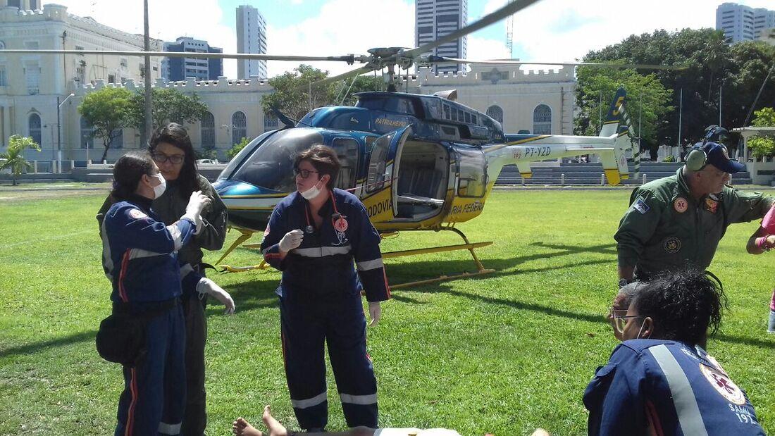 Helicóptero levou jovem argentino ao quartel do Derby