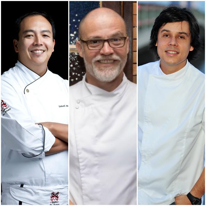 """Os chefs pernmabucanos comemoram o prêmio que receberam pelo filme """"Atum, Farofa & Spaguetti"""" em Hollywood"""