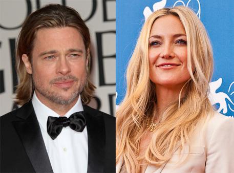 Brad Pitt e Kate Hudson estariam morando juntos na casa da atriz, segundo publicação