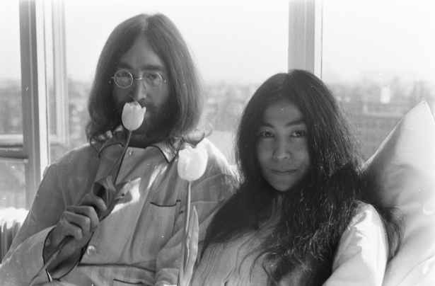 John Lennon e Yoko-Ono