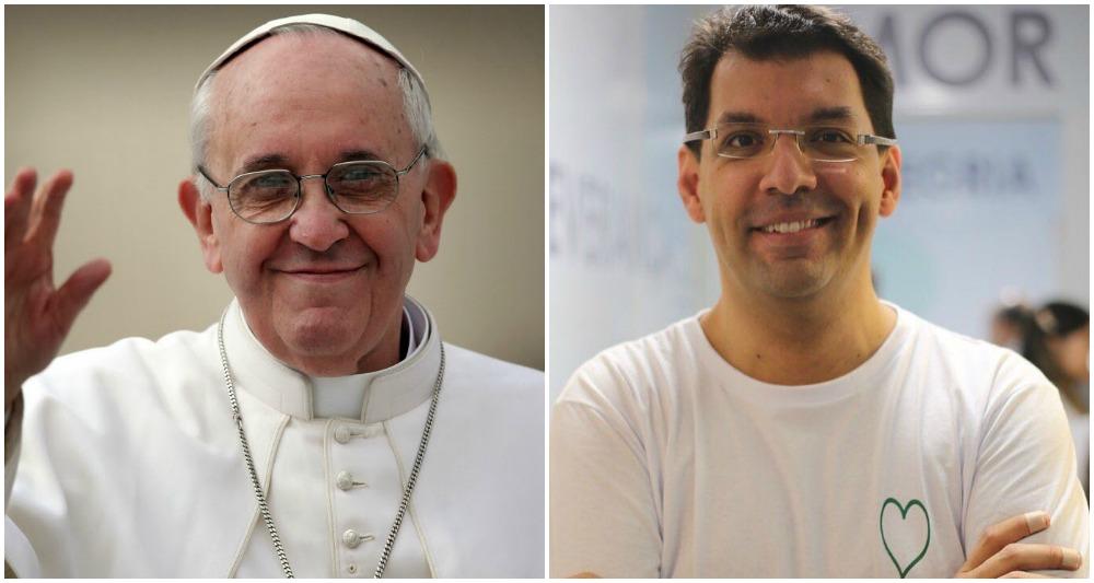 O empreendedor social Fábio Silva, nome à frente do Porto Social do Recife, encontra o papa Francisco em abril, para falar sobre o trabalho desenvolvido pela instituição pernambucana