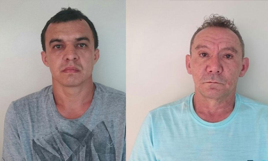 Ed Carlos Ferreira Sampaio, 35, e José Ferreira de Souza, 53, foram presos em flagrante