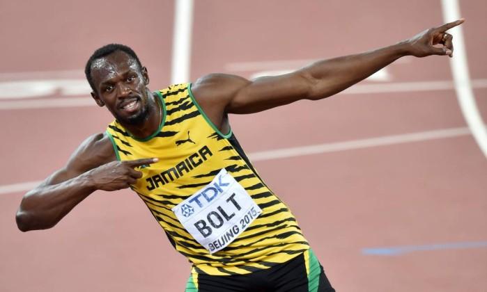 Usain Bolt faz parte do time de velocistas da Jamaica