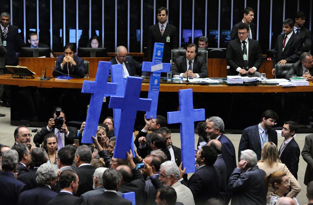 Plenário da Câmara na votação da reforma trabalhista