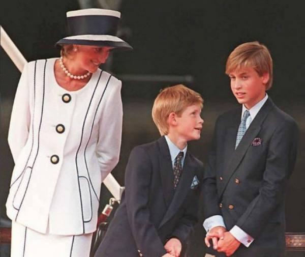 Diana, William e Harry