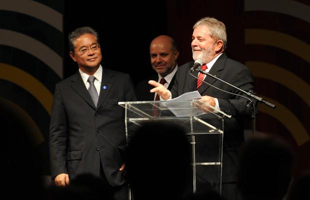 Paulo Okamotto e o ex-presidente Lula