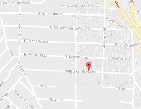 Acidente ocorreu na Rua Trinta e Um de Março, em Timbó