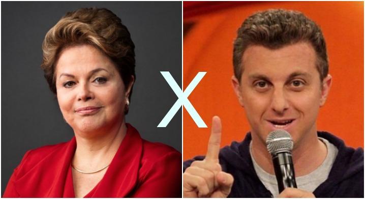 """""""Isto é gravíssimo"""", afirmou Dilma, referindo-se ao comentário de Fernando Henrique Cardoso sobre Luciano Huck ser a novidade da nossa política"""