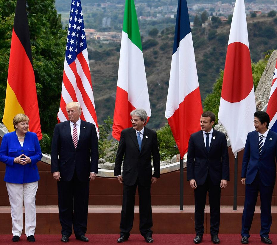 A cúpula do G7 inclui EUA, Alemanha, Japão, Canadá, França e Itália