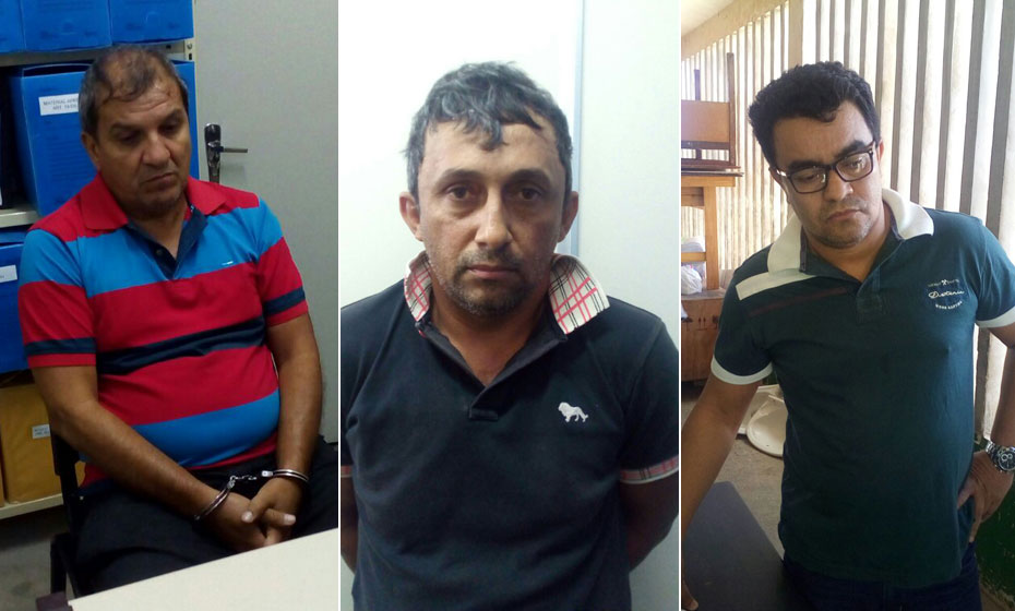 "Osvino Cordeiro Cruz (""Vinva""), Pedro de Alcantara de Sá Filho (""Canto"") e José Ari Dantas da Silva"