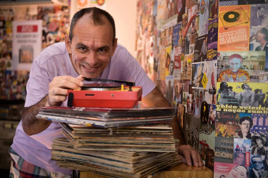 Fábio Cabral, da loja Passa Disco