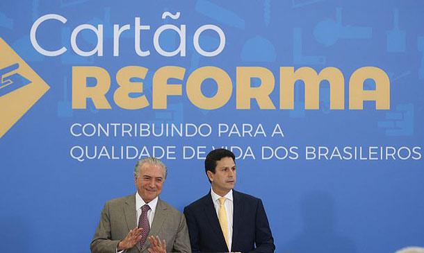 Lançamento do Cartão Reforma, no fim de 2016