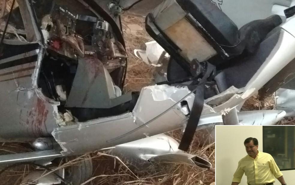 Avião pilotado por ex-senador boliviano Roger Pinto Molina caiu em Luziânia, Goiás