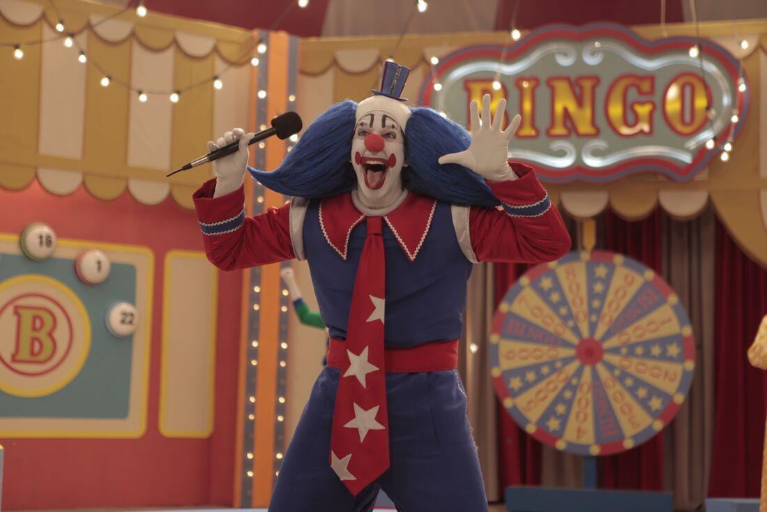 Vladimir Brichta no papel de Bingo