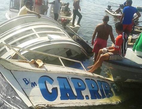 Barco naufragou no Rio Xingu, no Pará