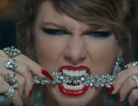 Taylor Swift, em clipe da música Look What You Made Me Do
