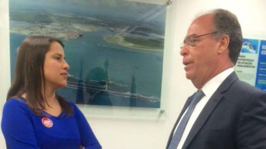 Fernando Bezerra voltou a se encontrar com Raquel Lyra