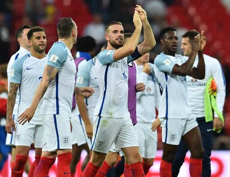 Inglaterra está perto de garantir vaga na Copa da Rússia