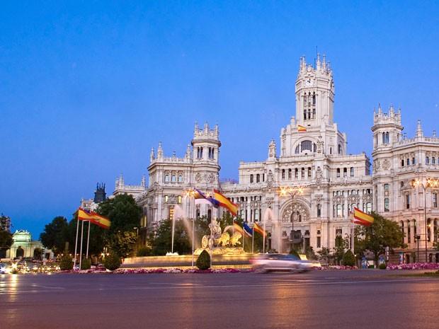 Palácio das Telecomunicações, na Praça de Cibeles, em Madri, Espanha