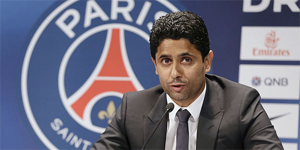 Presidente do Paris Saint-Germain, Nasser Al-Khelaifi,