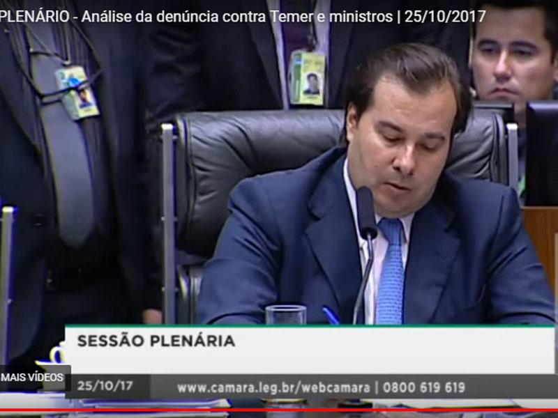 Rodrigo Maia na votação