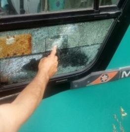 Motorista do ônibus ficou ferido