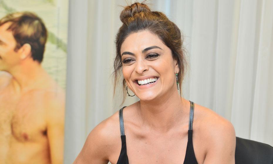Juliana Paes, durante entrevista em hotel do Recife