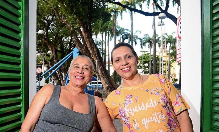 Soraya Jorge e Daniela Santos, no Paço do Frevo