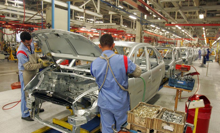 Linha de produção de carros