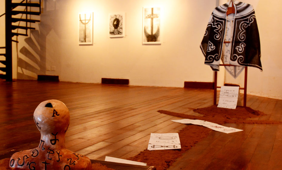 Ambiente da exposição 'O que vou buscar no Sertão, solidão'