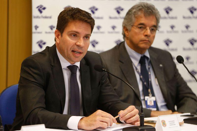 O delegado de Polícia Federal (PF), Alexandre Ramagem Rodrigues, durante entrevista na sede da Superintendência Regional da PF