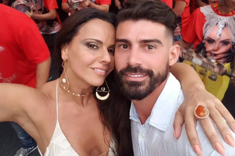 Viviane com o então noivo, Radamés Martins
