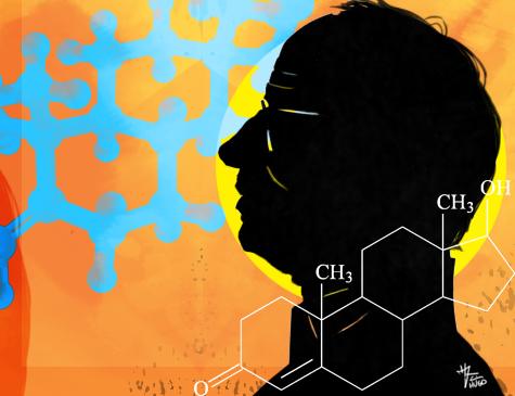 A secreção do hormônio diminui lentamente a partir dos 40 anos